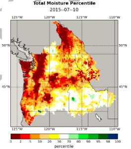 Washighton Drought Map